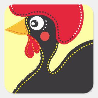 Sticker Carré le coq du Portugal