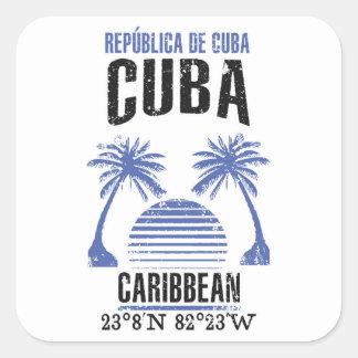 Sticker Carré Le Cuba