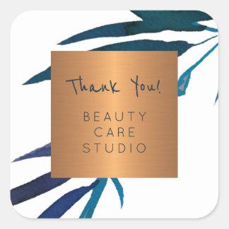 Sticker Carré Le feuille métallique d'en cuivre de studio de