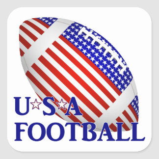 Sticker Carré Le football des Etats-Unis (1) avec le texte