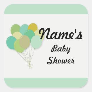 Sticker Carré Le genre de baby shower indiquent l'autocollant de
