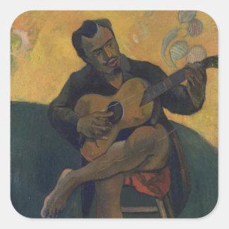 Sticker Carré Le guitariste