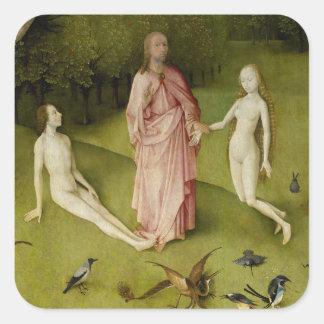 Sticker Carré Le jardin des plaisirs terrestres, 15ème siècle