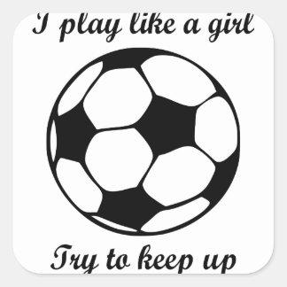 Sticker Carré le jeu aiment une fille