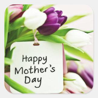 Sticker Carré Le jour de mère heureux