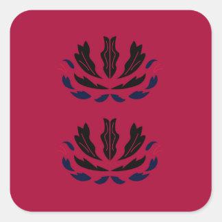 Sticker Carré Le luxe ornemente le redblack