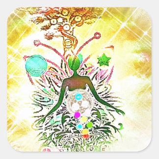 Sticker Carré Le magicien