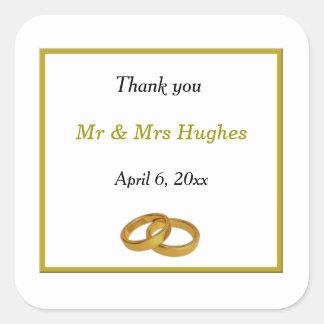 Sticker Carré Le mariage élégant d'anneau de mariage vous