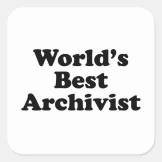 Sticker Carré Le meilleur archiviste des mondes
