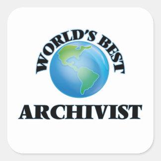 Sticker Carré Le meilleur archiviste du monde