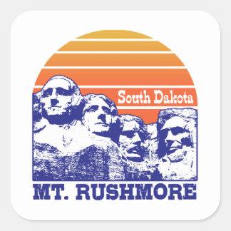 Sticker Carré Le mont Rushmore