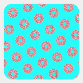 Sticker Carré Le motif I de beignet