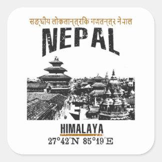 Sticker Carré Le Népal