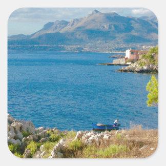 Sticker Carré Le pêcheur sicilien