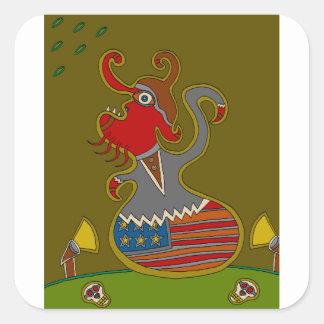 Sticker Carré Le politicien