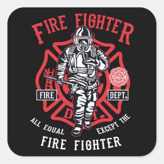 Sticker Carré Le pompier | non tous les hommes sont égal