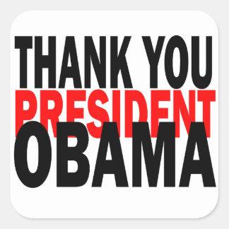 Sticker Carré Le Président Obama de Merci