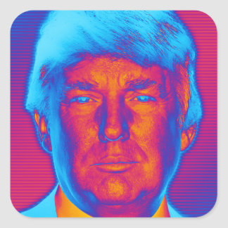 Sticker Carré Le Président Trump d'art de bruit