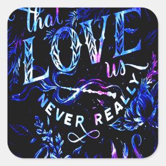 Sticker Carré Le rêve de l'amant celui qui nous aiment