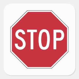Sticker Carré Le rouge classique Etats-Unis arrêtent des