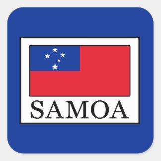 Sticker Carré Le Samoa