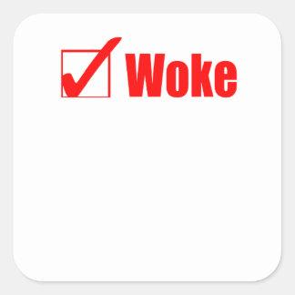 Sticker Carré Le séjour a réveillé le courrier de contrôle
