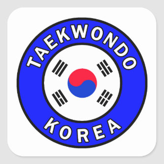 Sticker Carré Le Taekwondo