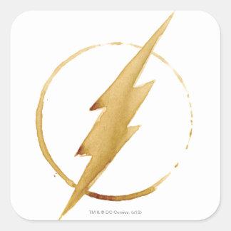 Sticker Carré L'emblème   jaune instantané de coffre