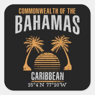 Sticker Carré Les Bahamas