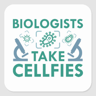 Sticker Carré Les biologistes prennent Cellfies
