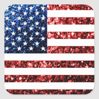 Sticker Carré Les Etats-Unis marquent le rouge et le bleu