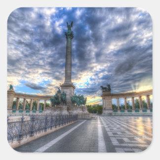 Sticker Carré Les héros ajustent Budapest Hongrie