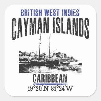 Sticker Carré Les Îles Caïman