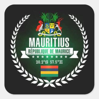 Sticker Carré Les Îles Maurice