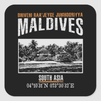 Sticker Carré Les Maldives