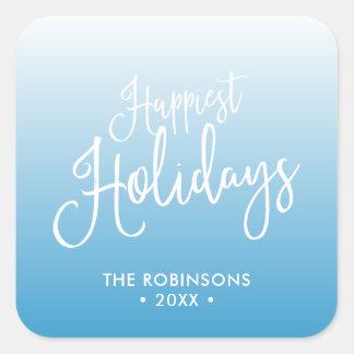 Sticker Carré Les vacances de vacances les plus heureuses de