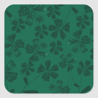 Sticker Carré lflowers verts