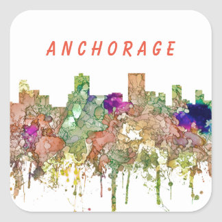 Sticker Carré L'horizon d'Anchorage Alaska SG-S'est fané gloire
