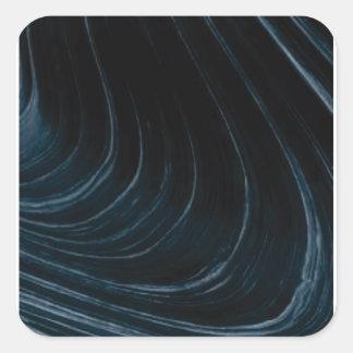 Sticker Carré Ligne d'écoulement onduleuse