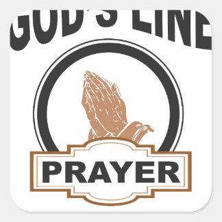 Sticker Carré ligne prière de dieux