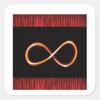 Sticker Carré L'industrie graphique de symbole infini d'OR
