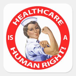 """Sticker Carré L'infirmière """"Rosie"""" dit que les """"soins de santé"""