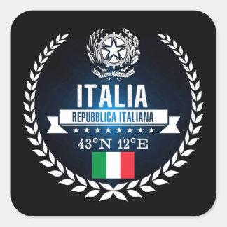 Sticker Carré L'Italie
