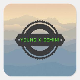 Sticker Carré Logo #1 de YXG