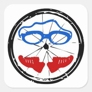 Sticker Carré Logo anormal de triathlon