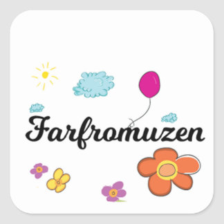 Sticker Carré Logo de FarFrom Usen