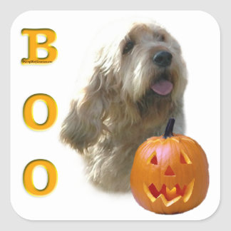 Sticker Carré L'Otterhound Halloween HUENT