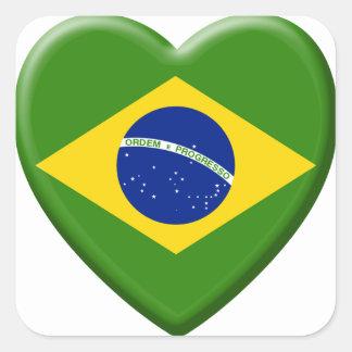 Sticker Carré Love Brésil
