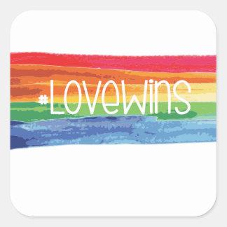 Sticker Carré #LoveWins