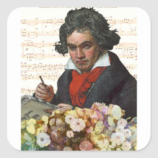 Sticker Carré Ludwig von Beethoven Mashed